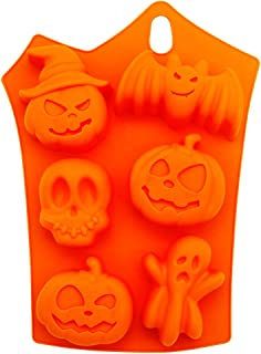 LetGoShop Halloween Limited Silicone Cupcake Liner Nonstick Baking Mold Holiday Reusable Muffin Baking Pan Pastry Baking Mold for Chocolates Jello Ice