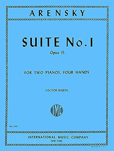 Anton Stepanovich Arensky-Suite N. 1 OP. 15 (kast) - 2 pianos-BOK