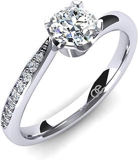 Moncoeur diamonds 925 sterling silver women's ring with Swarovski zirconia stones