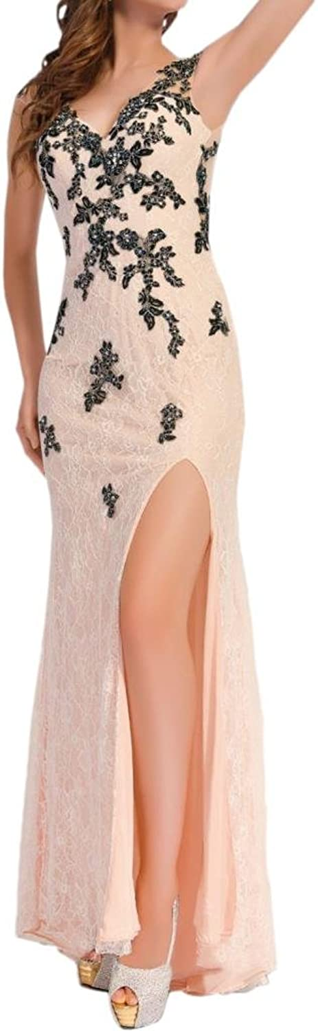 Angel Bride Sheath Side Split Celebrity Prom Party Birthday Evening Dresses