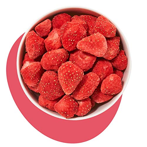 Erdbeeren Gefriergetrocknet, naturbelassen gefriergetrocknete Erbeeren, Freezed Dried Strawberry von kultsnack (500 g)