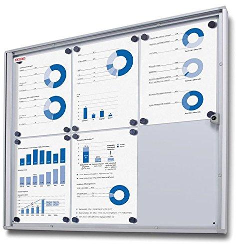 SG Education AR BA8A4 vitrine met plexiglas deur, 8 x A4, 93 cm hoogte, 65,5 cm breedte