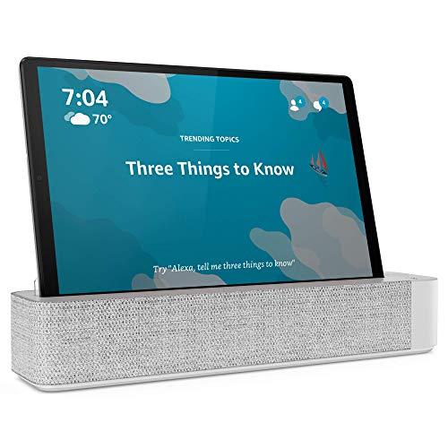 Lenovo Smart Tab M10 Plus, 10,3 Zoll Android Tablet, Alexa-fähiges Smart-Gerät, Octa-Core-Prozessor, 128 GB Speicher, 4 GB RAM, Plantinum Grey, ZA6M0013US
