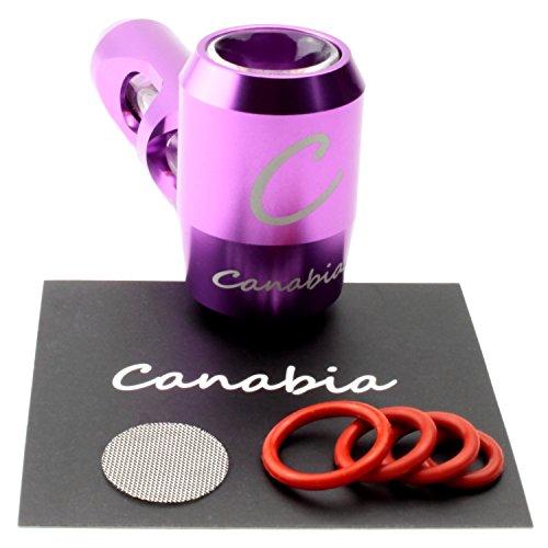 Canabia - Tubo de Metal Violeta – Vaporizador – Exoesqueleto de Aluminio con Tubo de Vidrio – en diseño portátil – Tubo de Metal – Pipa de Vidrio – Pipa de Tabaco (Violeta)