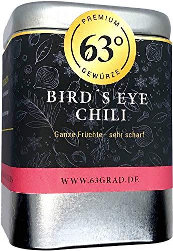 63 Grad Bird´s Eye Chili - ganze Früchte - sehr scharf