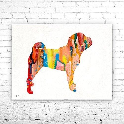 Shar pei watercolor shar pei animal print watercolor print dog animal art watercolor art print home decor shar pei print