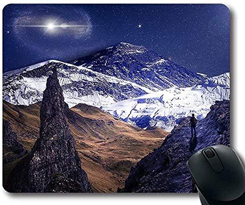 Natürliche Gummipräzision nähte Mausunterlage 30 * 25 * 0.3cm Abenteuerastronomie-Konstellation Natürliches Gebirgs- und schönes Seethema
