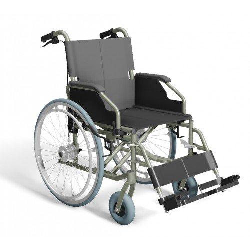 Trendmobil TMB-TB Rollstuhl mit Trommelbremse Faltrollstuhl Reiserollstuhl Pu-Bereifung Sitzbreite 42 cm
