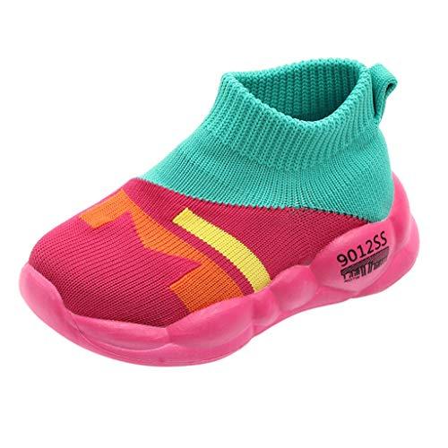 Lazzboy Kleinkind Kinder Baby Mädchen Jungen Mesh Weiche Sohle Sportschuhe Turnschuhe Cartoon Neugeborenes Babyschuhe Anti-Slip Socken Slipper Stiefel(Grün,21)
