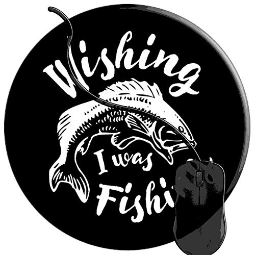 Mouse Pad for Computers,Gaming Mouse-Pads Office for Laptop Mouse Mat for PC Non Slip Mice Pad Angler Fisherman Bass Lure Fly Fishing Gear 2T1559