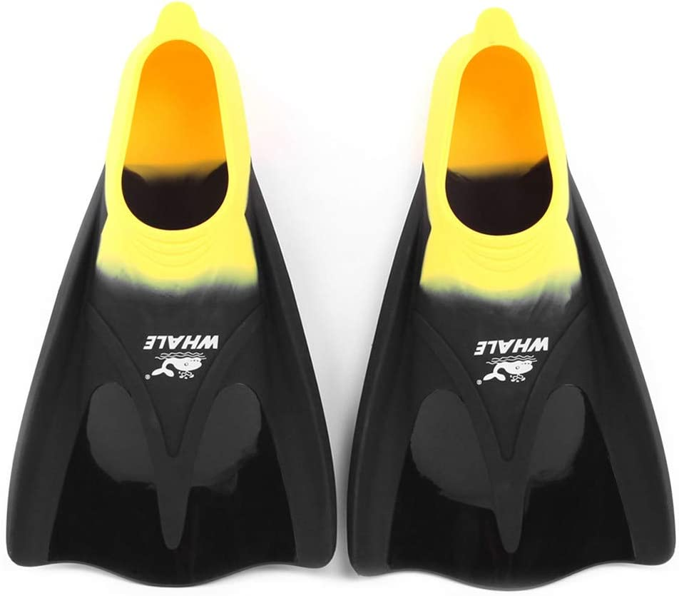 HWZZ Swimming Flippers Snorkel Fins Training Swimming Snorkeling