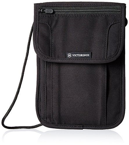 Victorinox Deluxe Security Pouch RFID Protection, Black/Black Logo