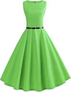 Dresses for Women Party Vintage Dresses Sleeveless O Neck Evening Ball Gown Prom Swing Dress