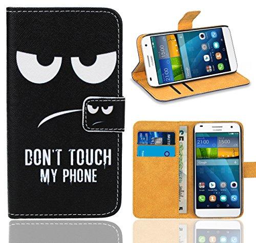 FoneExpert® Huawei Ascend G7 Handy Tasche, Wallet Hülle Flip Cover Hüllen Etui Ledertasche Lederhülle Premium Schutzhülle für Huawei Ascend G7 (Pattern 15)