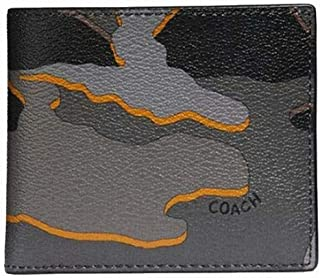 Coach Double Billfold Wallet With Camo Print F32614
