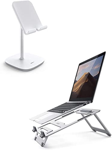 discount UGREEN lowest Tablet Stand with Laptop Stand Bundle popular Compatible for iPad Pro 9.7, New iPad 10.2 Inch, iPad Air 10.5, iPad Mini 4 3 2, Nintendo Switch, Samsung Galaxy Tab A, E-Book Reader outlet sale
