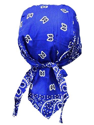 armardi b Bandana casquette Old School bleu blanc