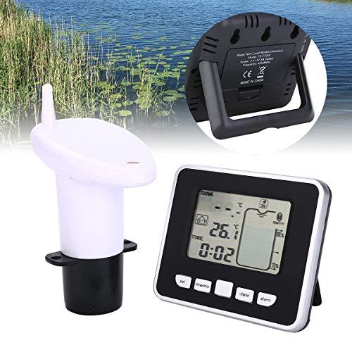 Medidor de nivel de tanque de agua ultrasónico Sensor de temperatura de batería baja Indicador de profundidad de líquido Indicador de tiempo Alarma Transmisor Herramientas