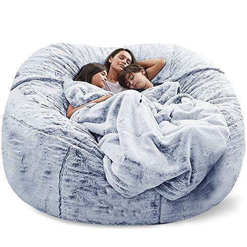 Puf gigante para sofá cama, sin relleno, suave, cálido, cómodo, mul