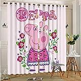 DONEECKL Cortinas opacas para ventana, color rosa cerdo para dormitorio, jardín de infantes, sala de estar, 163 x 163 cm, con ojales en la parte superior