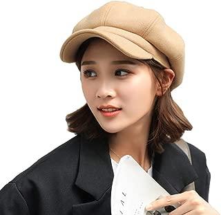PanPacSight Women Newsboy Cap Ladies Beret Winter Paperboy Wool Octagonal Adjustable Hat