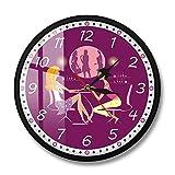 Nail Studio Reloj de Pared Nombre Personalizado Salón de uñas Técnico Reloj de Dedo Nombre de manicura Reloj de Pared Personalizado (Marco de Metal)
