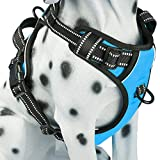 PoyPet No Pull Dog Harness, Reflective Vest Harness Front & Back 2 Leash
