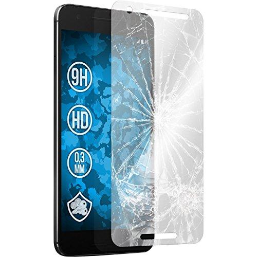 PhoneNatic 2 x Glas-Folie klar kompatibel mit Google Nexus 6P - Panzerglas für Nexus 6P