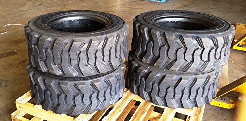 VanAcc Set of 2 Heavy Duty 10-16.5 12PR Skid Steer Tire Industrial Tire for Bobcat