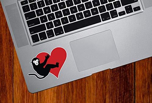 DKISEE Aap knuffelen hart Vinyl Decal voor Trackpad Tabletten Vinyl Sticker Laptop Vinyl Decal Venster Muursticker Auto Decal 8 inch Onecolor