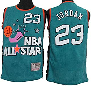 Camiseta de Manga Corta para Hombre NBA 96 Vintage All-Star de Michael Jordan, Fresca y Transpirable, Camiseta de Baloncesto de Manga Corta para Mujer
