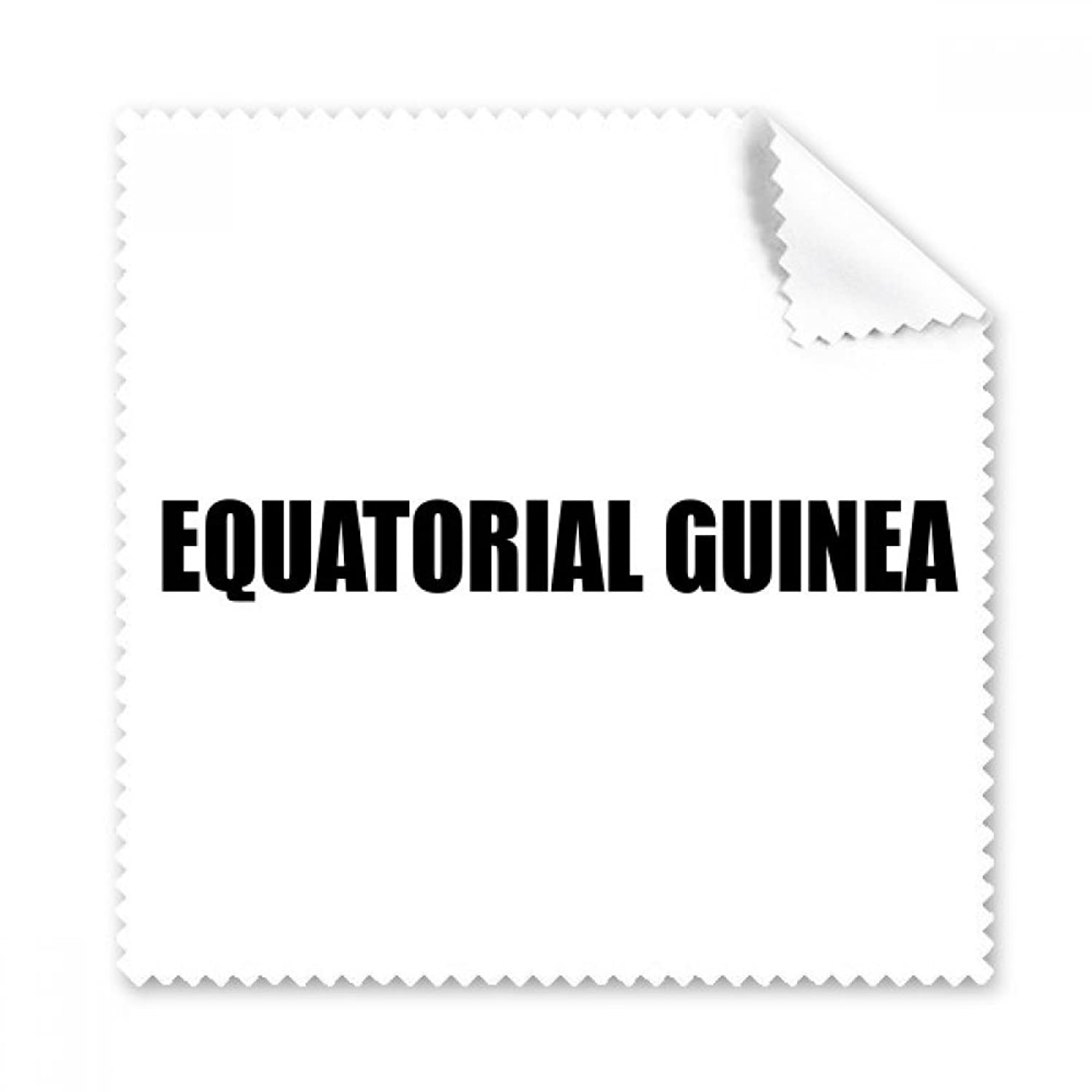 Equatorial Guinea Name Black Glasses Cloth Cleaning Cloth Phone Screen Cleaner 5pcs Gift