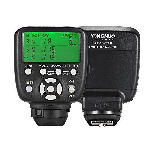 YONGNUO YN560-TX II Trigger Fernbedienung LCD-Sender für Canon DSLR-Kamera zu YN560III / YN560IV / YN660 / YN968N / YN860Li Speedlite RF-602 / RF603 / RF603 II