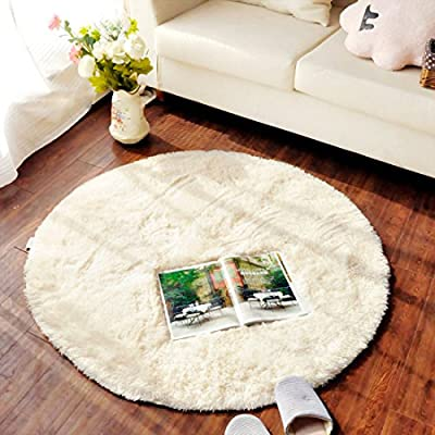 SANNIX Round Shaggy Area Rugs and Carpet Super Soft Bedroom Carpet Rug for Kids Play