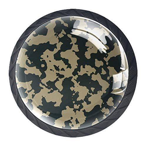 Retro-Camouflage-Muster für Schrank, Kommode, Schublade, Glasgriff, für Schranktür, Kleiderschrank, Schrank