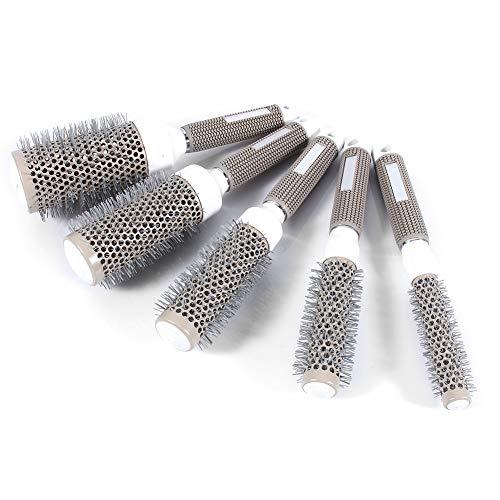 5 Größen Rundbürsten, Nano Thermische Keramik Rundkamm Zylinder Haarkamm für lockiges Haar, Haarglättung, Styling Trocknen rundbürste friseur zubehör