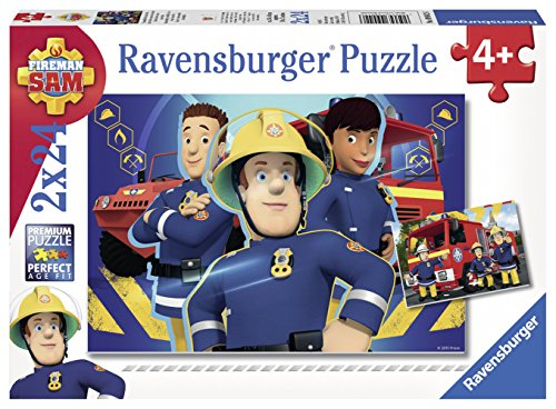 Ravensburger 90426 Puzzel Brandweerman Sam Helpt Je Uit De Brand - Twee Puzzels - 24 Stukjes - Kinderpuzzel
