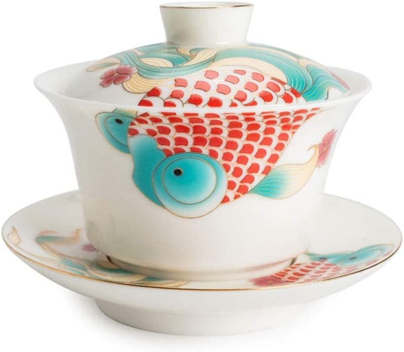 Chinese Porcelain Teacups 6 New Free Shipping oz Tureen Industry No. 1 B Cover Tradition Sancai