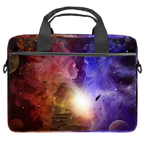Protective Carry Case Luxury Computer Briefcase Suitable for 13.4'-14.5' Laptop with Display Yin Yang Space Galaxy Starry
