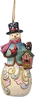 Jim Shore Department Store Series Holiday Ornament - Snowman with Bird House