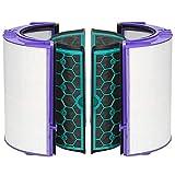 Simuke TP04 - Filtro HEPA para Dyson DP04 HP04 Pure Cool Purifier Fan Glass y filtro de carbón activado interior de repuesto para 969048-02