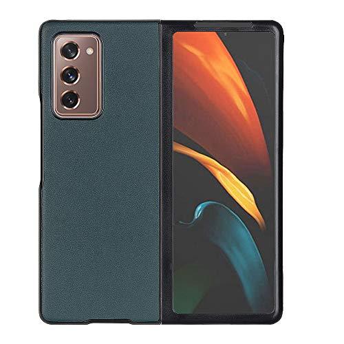 BELLA BEAR Samsung Galaxy Z Fold 2 5G Ledertasche [Bequeme Berührung] [Eleganter Blick] [Wickeln Sie die Kante vollständig EIN] Hülle für Fold Phone Galaxy Z Fold 2(Grün)
