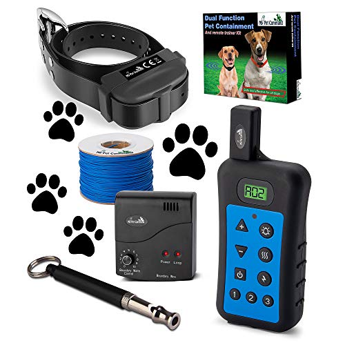 My Pet Command Wireless Underground Dog Fence System, Dual Function with Remote Dog Training Collar...