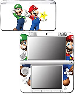 New Super Mario Bros 3D Land World 2 Luigi Star Video Game Vinyl Decal Skin Sticker Cover for Original Nintendo 3DS XL System