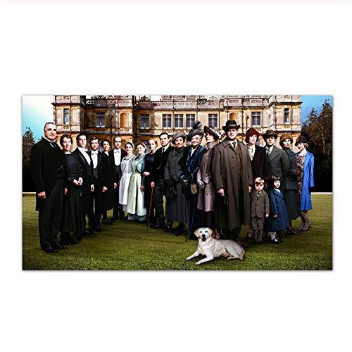 feitao Downton Abbey Poster Wandkunst Bilder Druck Auf Leinwand Für Wohnzimmer Home Decor Leinwand Malerei -24X48 Zoll Ohne Rahmen