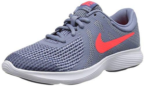 Nike Revolution 4 (GS), Zapatillas de Running para Niños, Gris (Ashen Slate/Flash Crimson-Diffused Blue 400), 38 EU