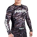 MANTO Langarm Rashguard Tactic, Uomo, Grigio, S