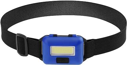 dingtian Hoofd Zaklamp Mini 3 Modi Waterdichte COB LED Zaklamp Buiten Koplamp Torch Emergency Lantaarn (Kleur: Blauw)
