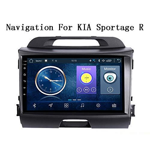 HHttM Android 8.1 De 9 Pulgadas para KIA Sportage R 2010-2016 Sistema De Navegación GPS Multimedia para Vehículos Automotrices Compatible con RDS, Navegación GPS para Vehículos