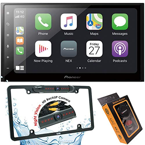 Pioneer DMH-2600NEX 6.8' Multimedia Bluetooth Car Stereo Receiver with Apple CarPlay, Android Auto with HD Camera PK5 and Gravity Magnet Phone Holder Bundle